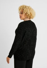 Evans - RAINBOW SEQUIN JUMPER - Trui - black