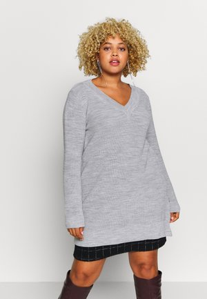 NECK ZIP - Jumper - light grey