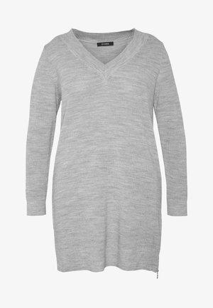 NECK ZIP - Pullover - light grey