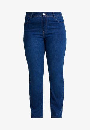 Straight leg jeans - mid wash