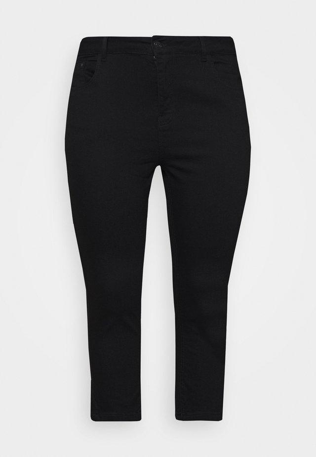 CROP - Short en jean - black