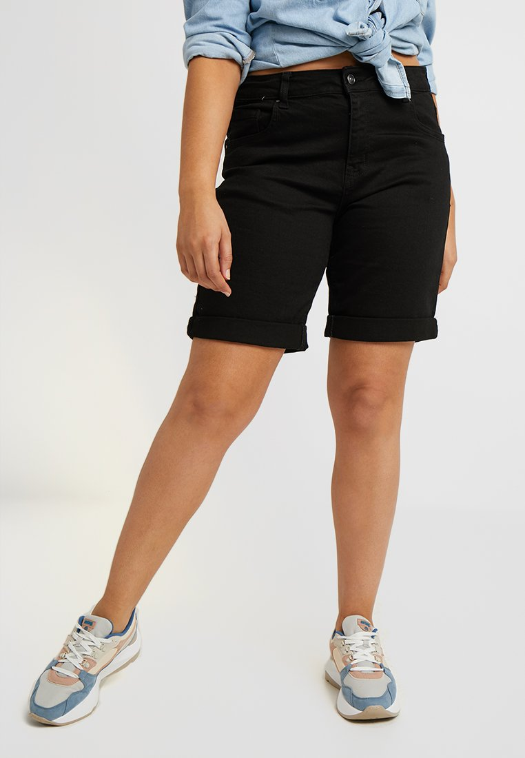 Evans - Shorts di jeans - black