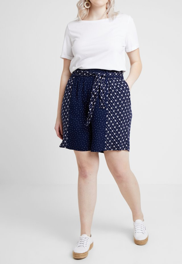 MIXED PRINT - Shorts - dark blue