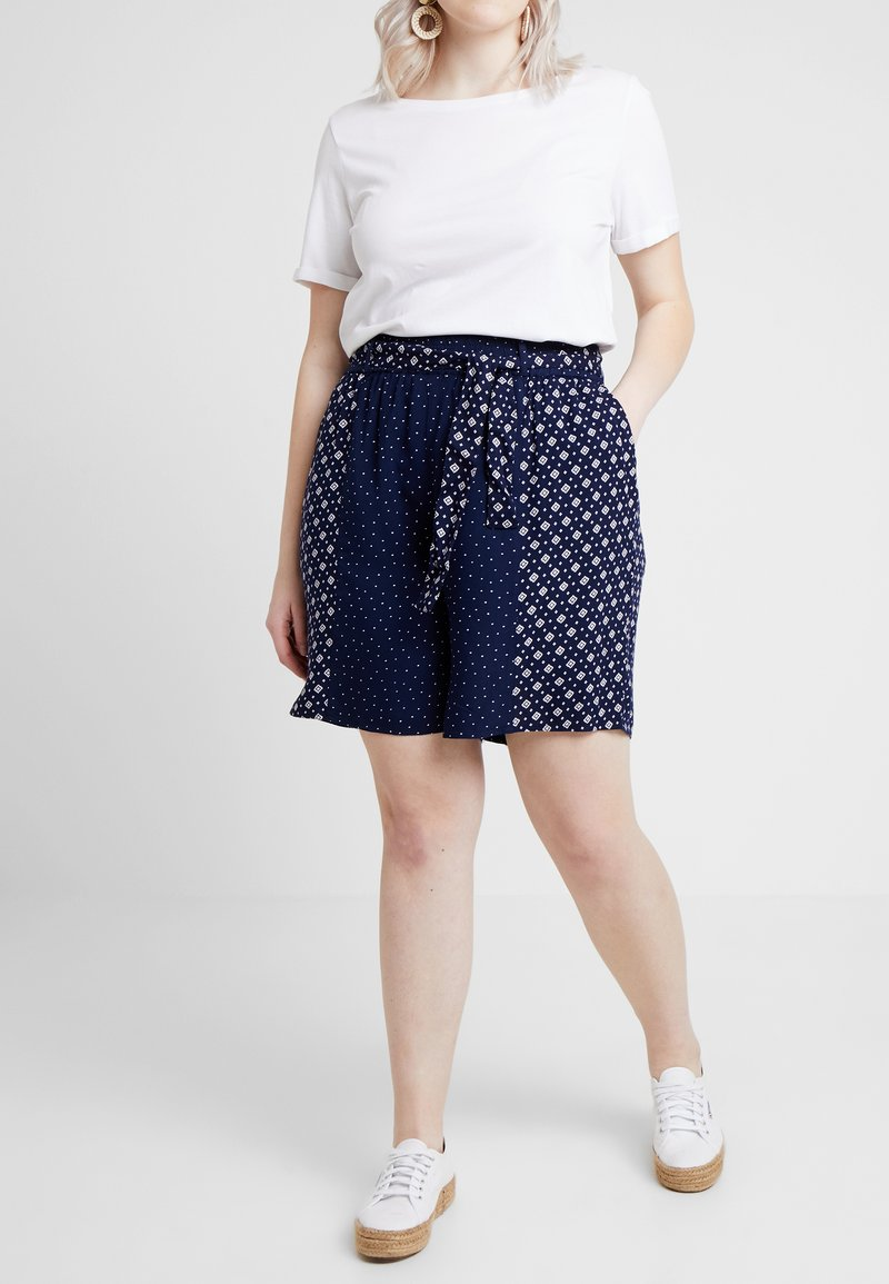 Evans - MIXED PRINT - Shorts - dark blue