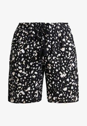 MIXED PRINT - Shorts - black