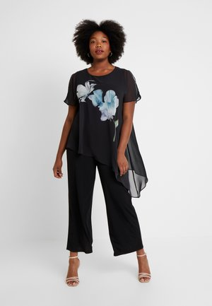 FLORAL PLACEMENT OVERLAY MIDI - Overall / Jumpsuit /Buksedragter - multi