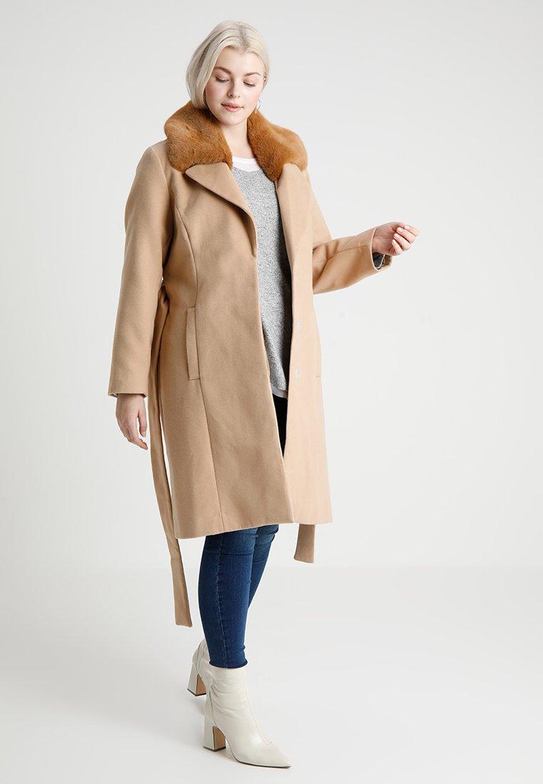 Evans - TRIM BELTED COAT - Cappotto classico - camel