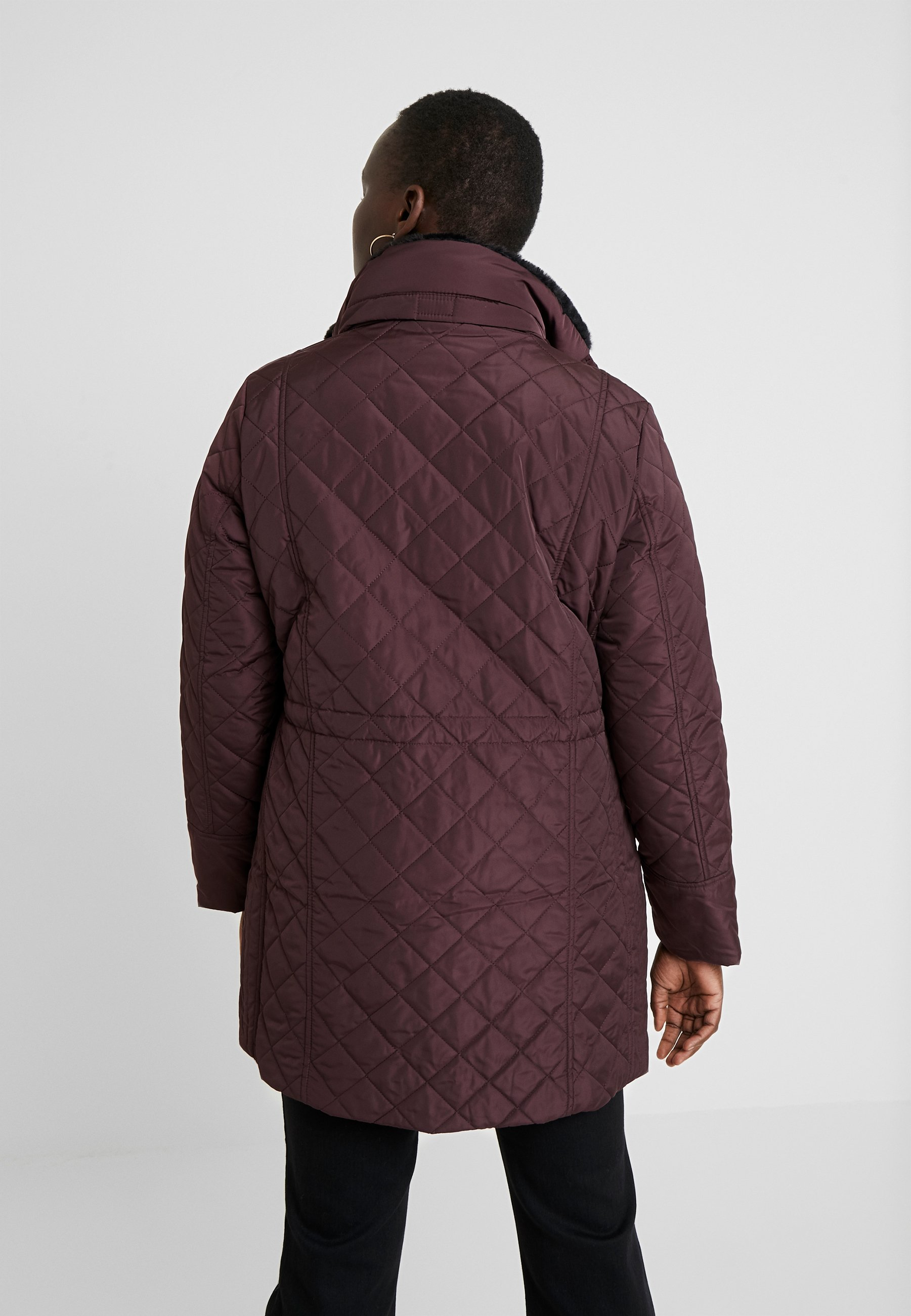 Evans Collar Quilted Coat - Parka Plum