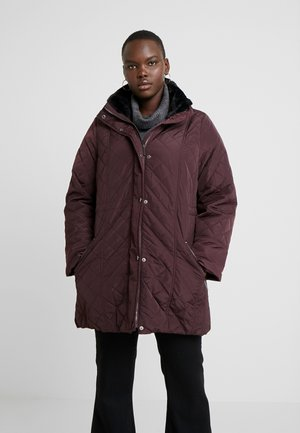 COLLAR QUILTED COAT - Parkatakki - plum