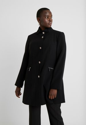 DOUBLE FUNNEL - Classic coat - black