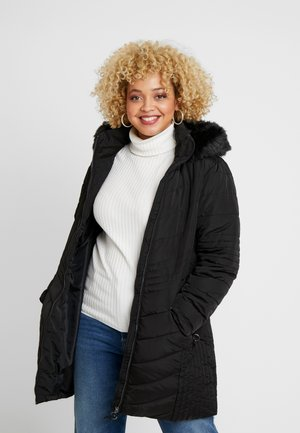 CHEVRON QUILTED PADDED - Manteau classique - black