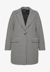 Evans - DOGTOOTH DOUBLE BREASTED COAT - Short coat - black/white - 4