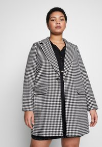 Evans - DOGTOOTH DOUBLE BREASTED COAT - Short coat - black/white - 0