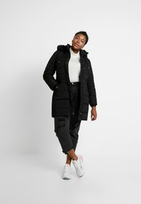 Evans - TAB SIDE PADDED COAT - Manteau court - black - 1