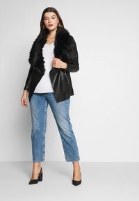 Evans - JACKET - Faux leather jacket - black - 1