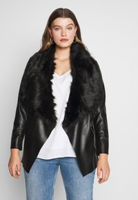 Evans - JACKET - Faux leather jacket - black - 0