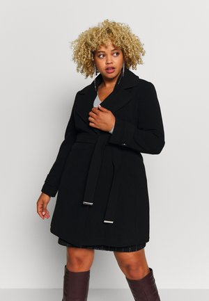 BELTED COAT - Zimní kabát - black