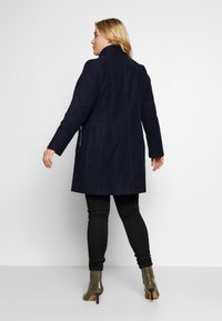 Evans - FUNNEL NECK COAT - Manteau classique - navy - 2