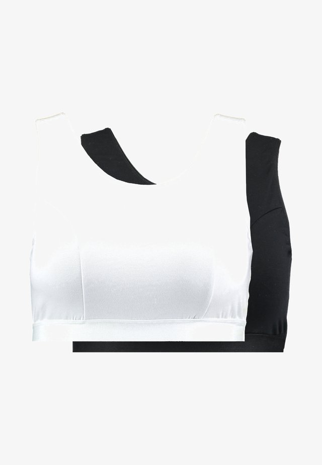 EVE SLEEP BRA 2 PACK - Korzet - black/white