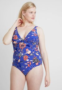Evans - PARADISE FLORAL HIGH APEX SWIMSUIT - Plavky - multi-coloured - 0