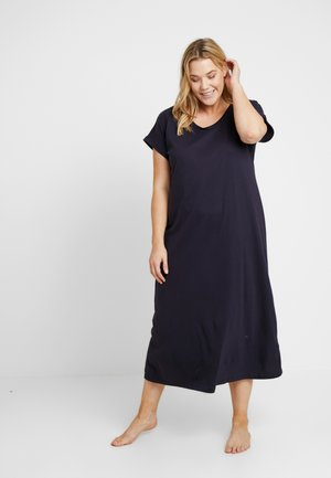 RUCHED FRONT LONG NIGHTDRESS - Camicia da notte - navy