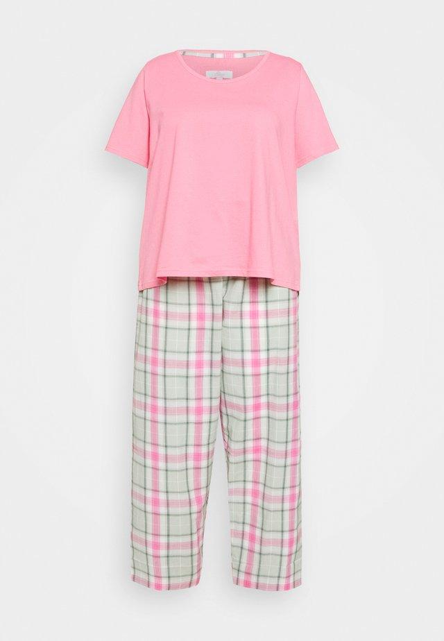 CHECK PANT SET - Piżama - pink