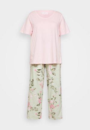 FLORAL PRINT SET - Pyžamová sada - pink