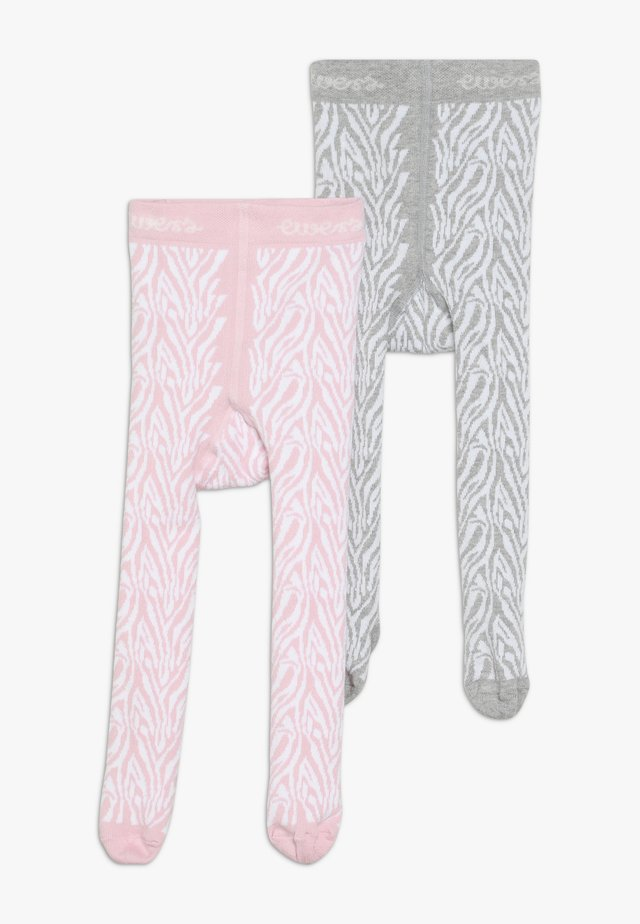 ZEBRA 2 PACK - Tights - grau/rosa