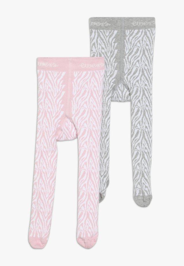 ZEBRA 2 PACK - Panty - grau/rosa