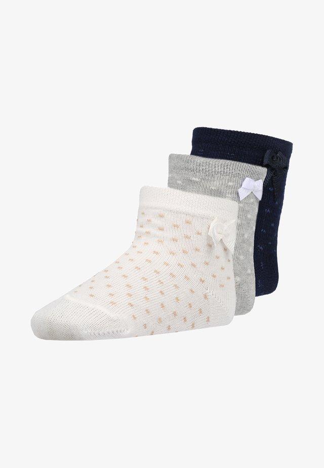 3 PACK - Socks - latte/grau/navy