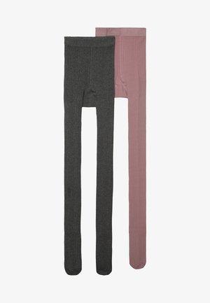 2 PACK - Punčocháče - grau melange/wildrose