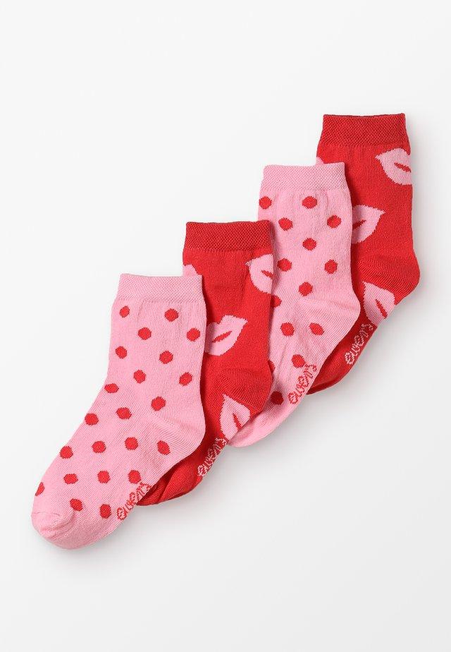 4 PACK - Sokken - rot/pink