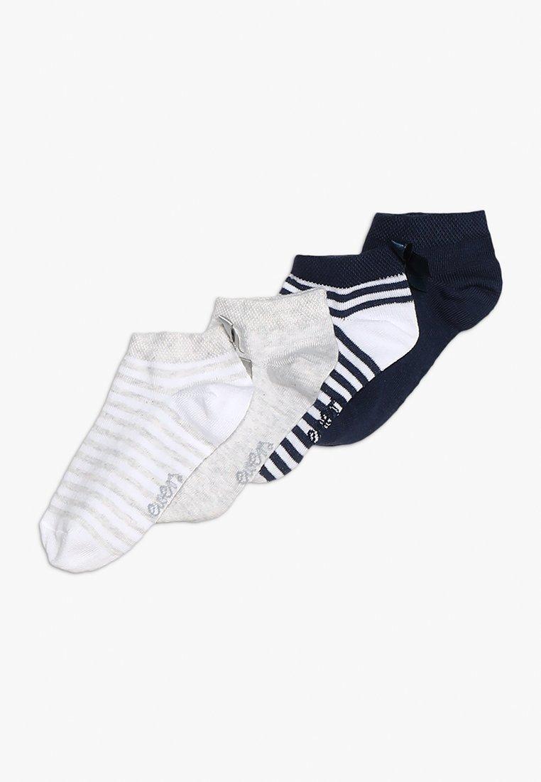 Ewers - SNEAKER RINGEL SCHLEIFE 4 PACK - Socks - marine/grau