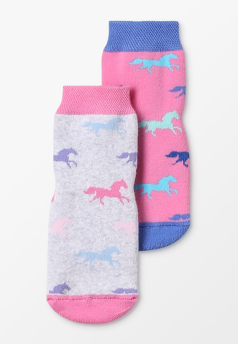 Ewers - SOFTSTEP  2 PACK - Chaussettes - grau/pink