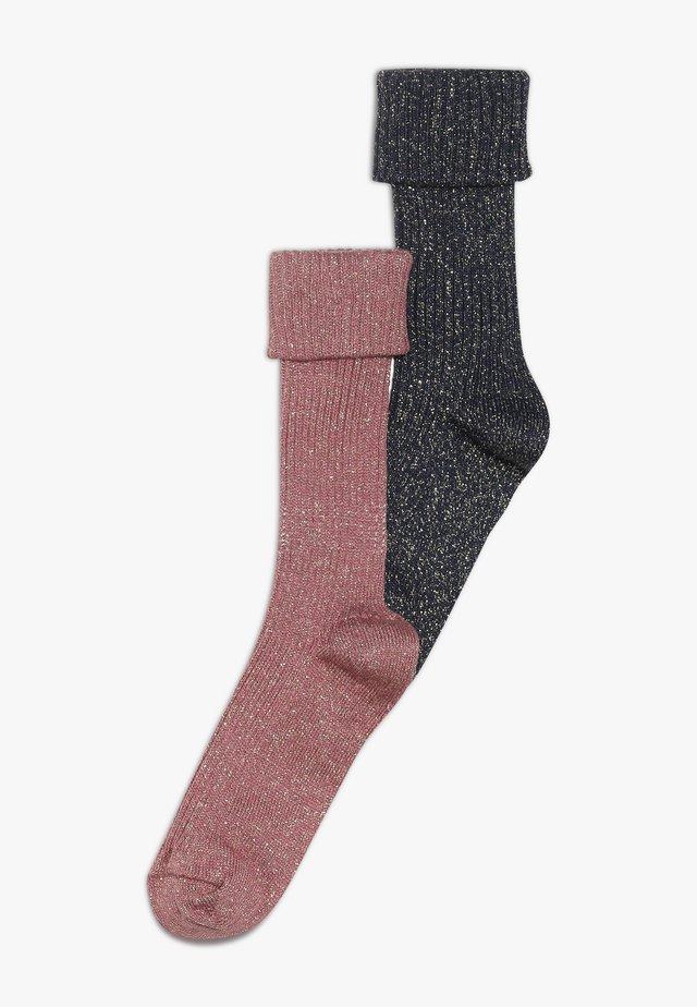 2 PACK - Socks - blau/rosé