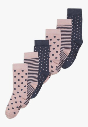 PUNKTE RINGEL 6 PACK - Chaussettes - wildrose/tinte