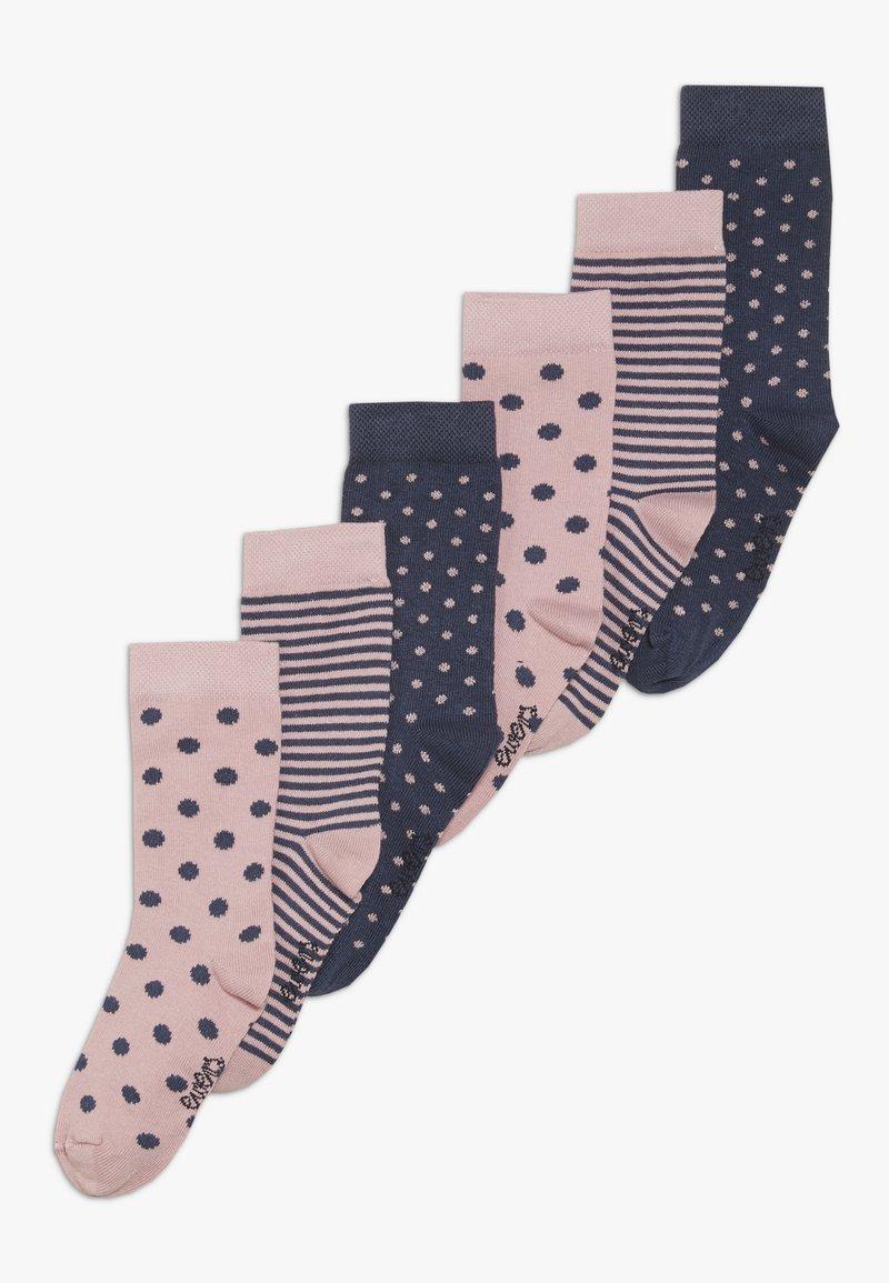 Ewers - PUNKTE RINGEL 6 PACK - Socken - wildrose/tinte