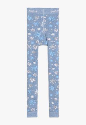 SCHNEEFLOCKEN GLITZER - Legging - light blue