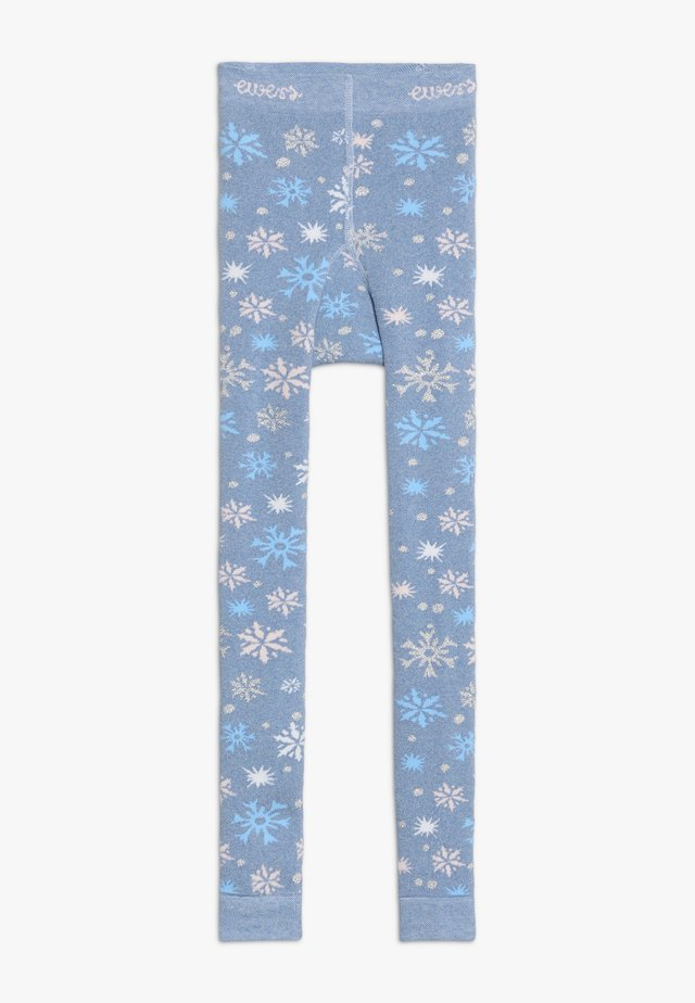 SCHNEEFLOCKEN GLITZER - Leggings - Trousers - light blue