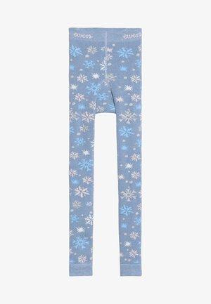 SCHNEEFLOCKEN GLITZER - Leggings - light blue
