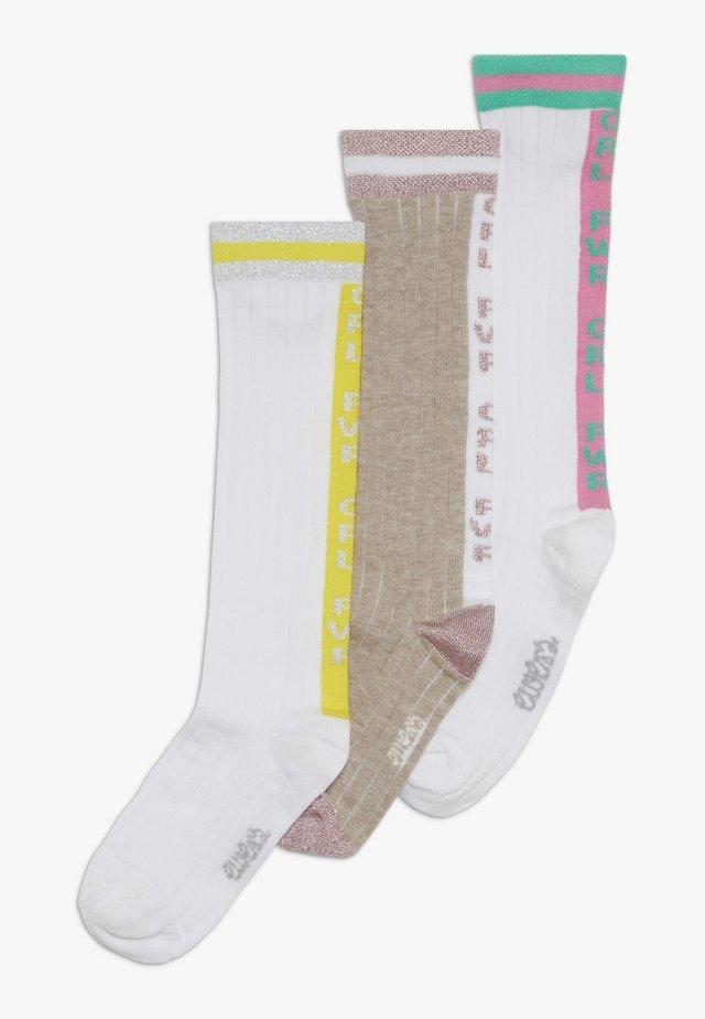 GIRLPOWER 3 PACK  - Knee high socks - grün/gelb/rosa