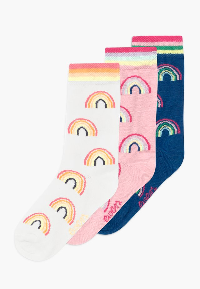 REGENBOGEN 3 PACK - Socks - blau/rosa/creme
