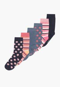 Ewers - PUNKTE/UNI/RINGEL 6 PACK - Calcetines - blue/pink - 0