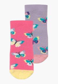Ewers - SOFTSTEP SCHMETTERLINGE 2 PACK - Ponožky - flieder/pink - 0