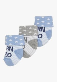 Ewers - NEWBORN 3 PACK - Ponožky - blau/grau - 0