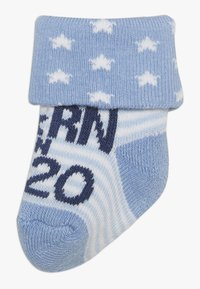 Ewers - NEWBORN 3 PACK - Ponožky - blau/grau - 1