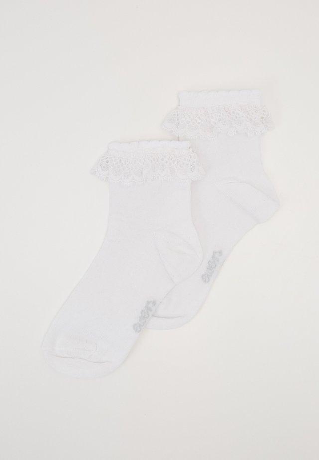 KIDSSOCKS 2 PACK - Socks - white