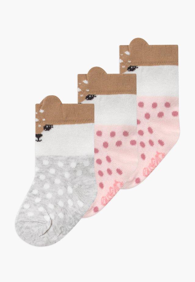 LITTLE FAWN 3 PACK - Ponožky - rosé/grau
