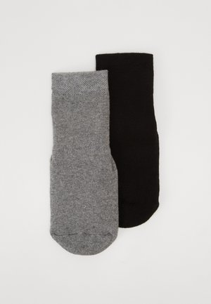 VABS STOPPER HOMESOCKS 2 PACK - Calcetines - schwarz/grau