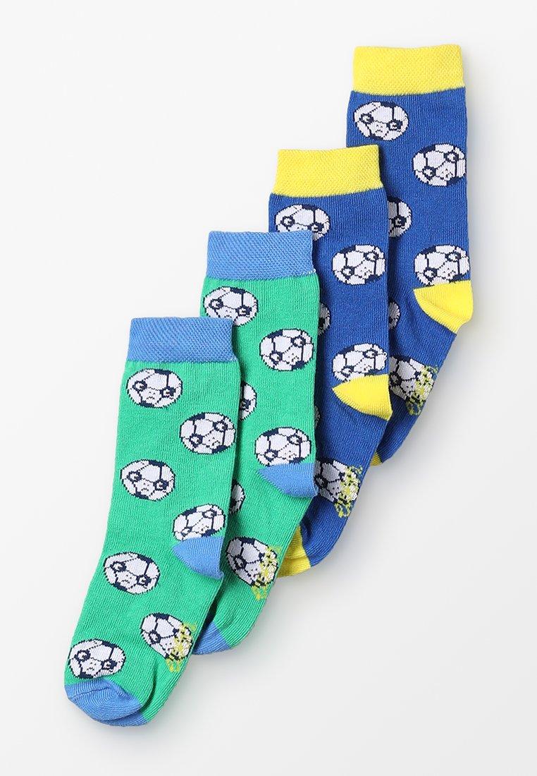 Ewers - FUSSBALL 4 PACK - Socks - blau/grün